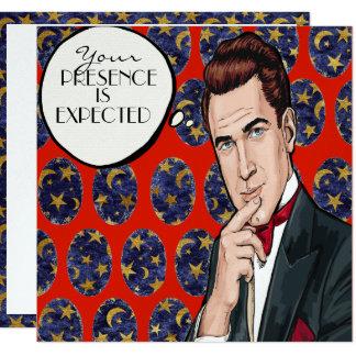 Pop Art Man Formal Celebration Invitation
