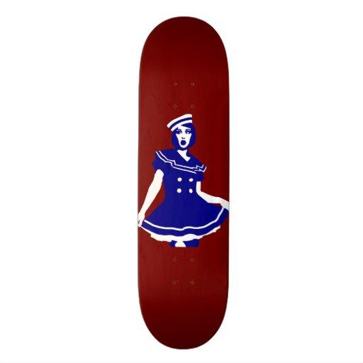 Pop Art - Maritime sexy Seemannsbraut Skate Board Deck