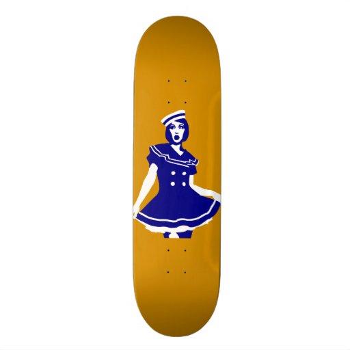 Pop Art - Maritime sexy Seemannsbraut Skateboard Deck