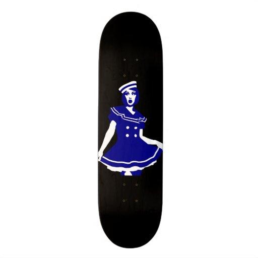 Pop Art - Maritime sexy Seemannsbraut Skate Decks