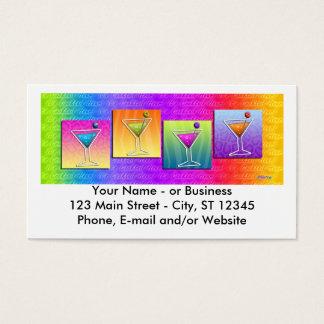 Pop Art MARTINIS BUSINESS CARDS (horizontal)