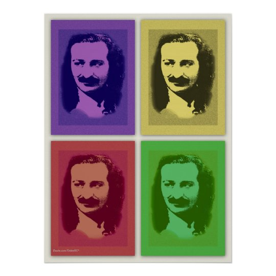 Pop Art Meher Baba Portrait Poster Print