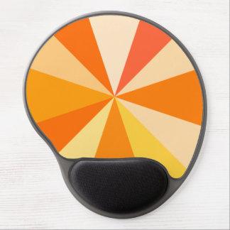 Pop Art Modern 60s Funky Geometric Rays in Orange Gel Mouse Pad