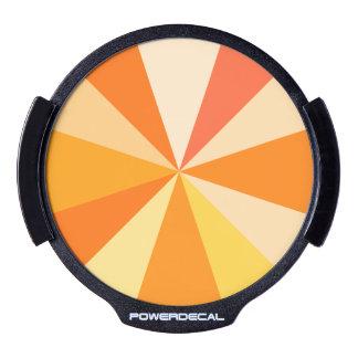 Pop Art Modern 60s Funky Geometric Rays in Orange LED Auto Decal