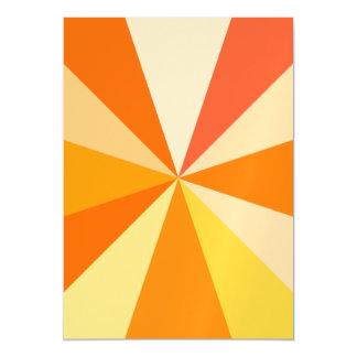 Pop Art Modern 60s Funky Geometric Rays in Orange Magnetic Invitations