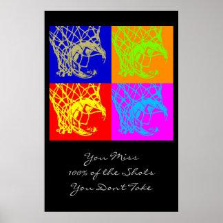 Pop Art Motivational Quote Basketball Poster Print
