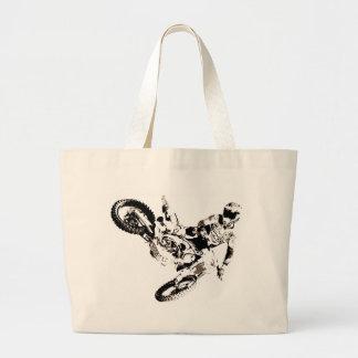 Pop Art Motocross Motorcyle Sport Large Tote Bag