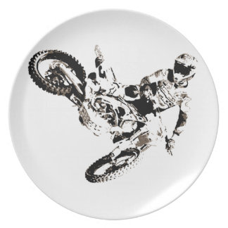 Pop Art Motocross Motorcyle Sport Plate