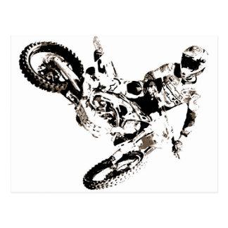 Pop Art Motocross Motorcyle Sport Postcard