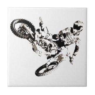 Pop Art Motocross Motorcyle Sport Tile