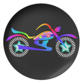 Pop Art MOTORCYCLE Cocktail or Dinner Plate