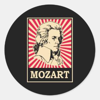 Pop Art Mozart Round Sticker