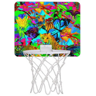 Pop Art Nature Mini Basketball Goal Mini Basketball Hoop
