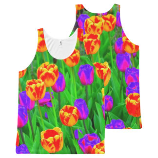 Pop Art Neon Tulips All-Over-Print Tank Top