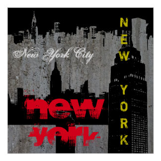 Pop Art New York City Manhattan Skyscrapers Poster