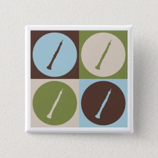 Pop Art Oboe 2 Inch Square Button