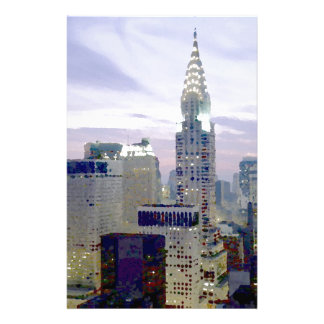 Pop Art Oil Paint Effect New York Stationery