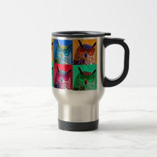 Pop art Owl Travel Mug
