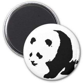 Pop Art Panda 2 Inch Round Magnet
