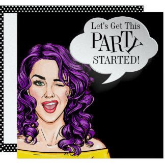 Pop Art PARTY Invitation