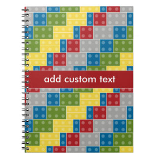 Pop Art Pattern Colorful Bricks for Boys Note Book
