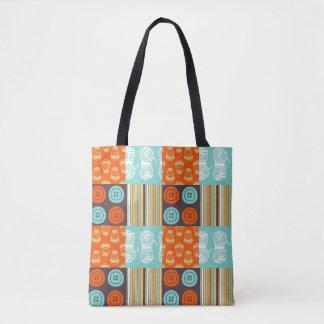 Pop-art pattern - sewing tote bag