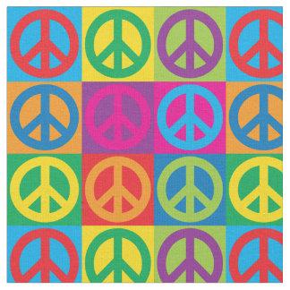 Pop Art Peace Symbols Fabric