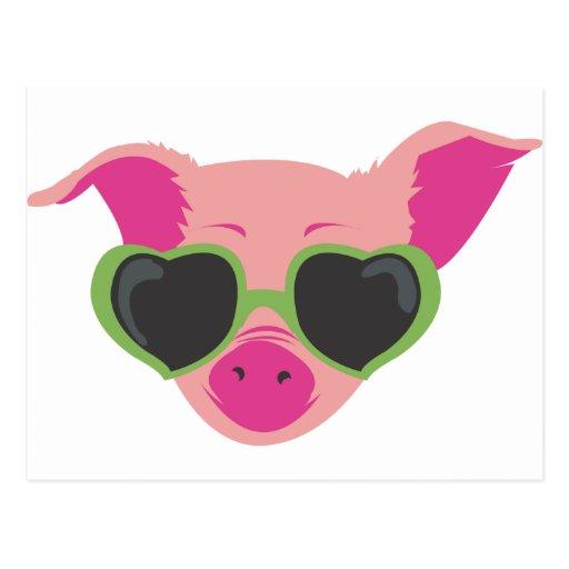 Pop art Piggy Post Card