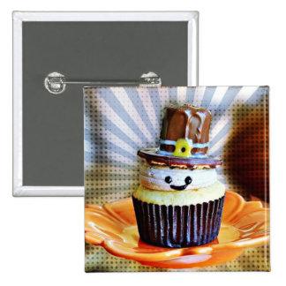 Pop Art Pilgrim Cupcakes 2 Inch Square Button
