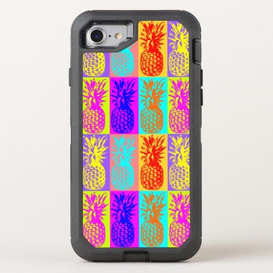 Pop art pineapple OtterBox defender iPhone 7 case