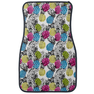 Pop Art Pineapples And Palm Leaves Car Liners