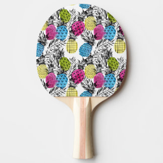 Pop Art Pineapples And Palm Leaves Ping-Pong Paddle
