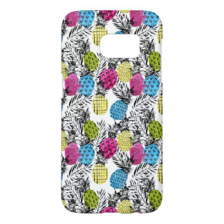 Pop Art Pineapples And Palm Leaves Samsung Galaxy S7 Case