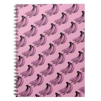 Pop Art Pink Banana Graphic Spiral Notebook