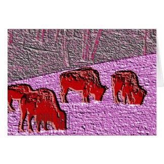 Pop Art Pink Buffalo Card