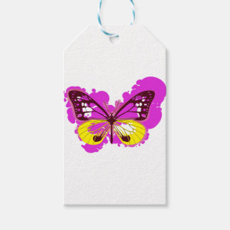 Pop Art Pink Butterfly Gift Tags