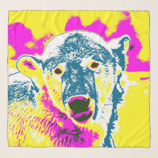 Pop Art Polar Baer 1 Scarf