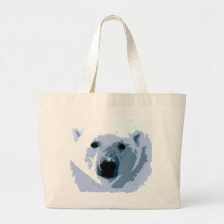 Pop Art Polar Bear Jumbo Tote Bag