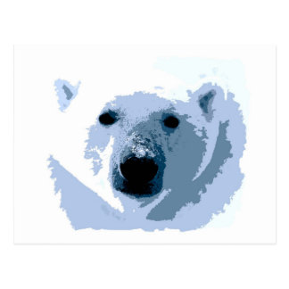 Pop Art Polar Bear Postcard