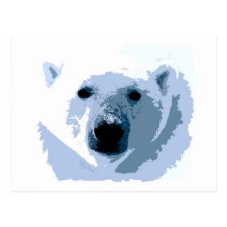 Pop Art Polar Bear Postcard