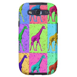 Pop Art Popart Walking Giraffe Multi-Color Samsung Galaxy SIII Covers