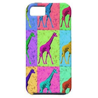 Pop Art Popart Walking Giraffe Multi-Color iPhone 5 Covers