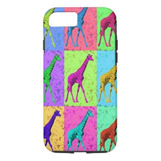 Pop Art Popart Walking Giraffe Multi-Color iPhone 7 Case