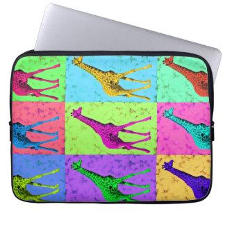 Pop Art Popart Walking Giraffe Multi-Color Laptop Sleeve