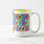 Pop Art Popart Walking Giraffe Multi-Colour