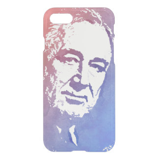 Pop Art Portrait of FDR in Red and Blue iPhone 7 Case