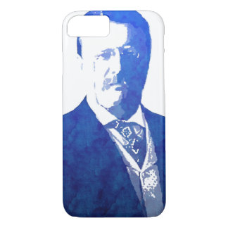 Pop Art Portrait Teddy Roosevelt Blue iPhone 7 Case