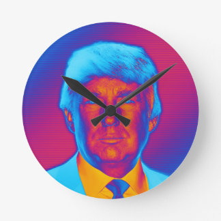 Pop Art President Trump Round Clock