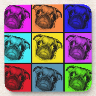 Pop Art Pug Coasters