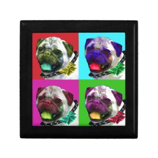 Pop Art Pug Keepsake Box